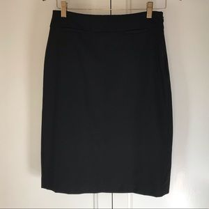 Banana Republic Black Wool Suit Pencil Skirt